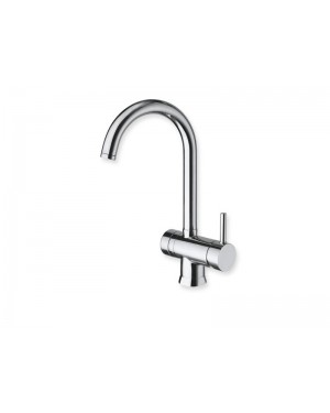 Cristina kitchen tap Contemporary Lines single lever kitchen tap with pull out spray KT530