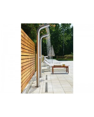 Cristina shower system Inox Lines shower system indoor/outdoor WX509