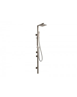 Gessi Rettangolo 23409 wall mounted thermostatic shower mixer with showerhead and handshower