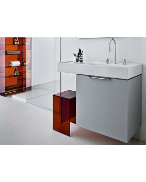 Kartell by Laufen countertop basins white on top sink with left shelf 8.1033.9.000