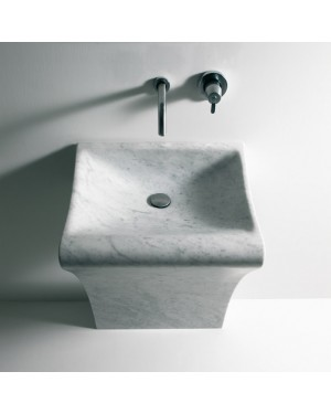 Agape Lito 1 ACER0731 free standing washbasin in Carrara's marble