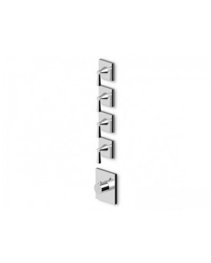 Zucchetti Bellagio ZB2097 wall mounted thermostatic shower mixer with 4 stop valves