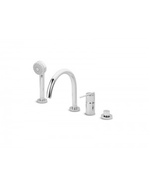 Zucchetti Spin ZX3463 countertop bath tap with diverter and hand shower
