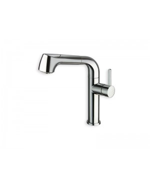 Cristina kitchen tap Contemporary Lines single lever kitchen tap with pull out spray KK550