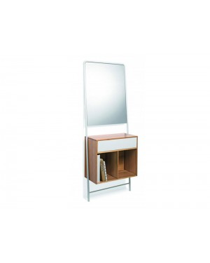 Lineabeta furniture Posa bamboo consolle with mirror 5133